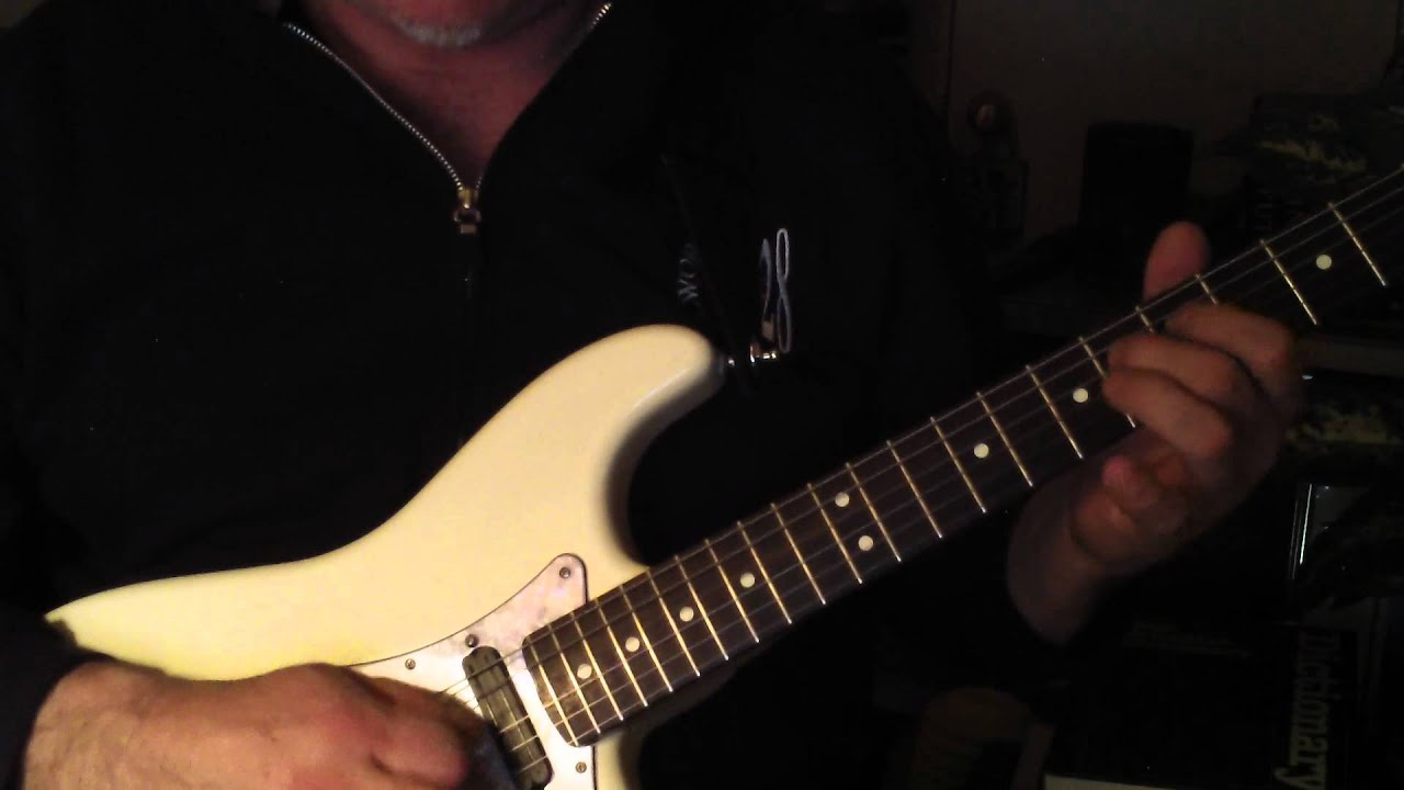Jeff Beck Strat modded with a Carvin pre-wired pickguard (3 Carvin  Twinblade humbuckers)