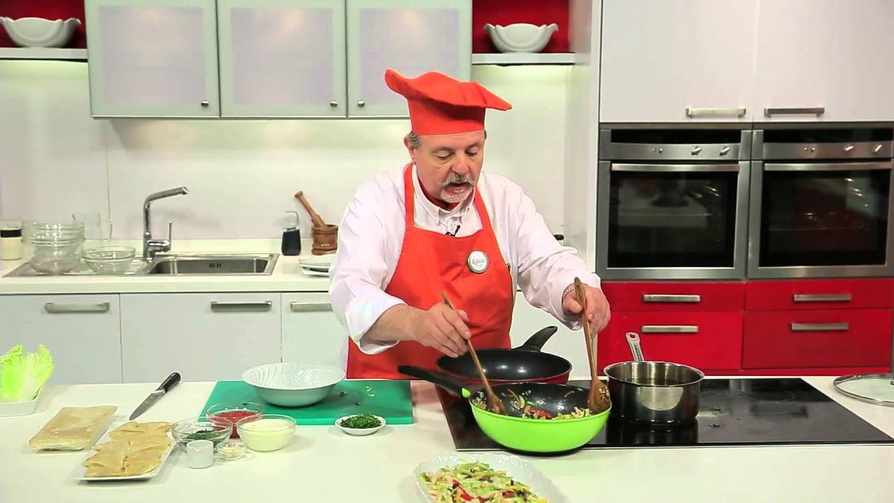 ستير فراى دجاج مع الخضروات - سمبوسك محشى بقطع الدجاج : طبخة ونص حلقة كاملة