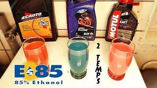 """""""Expérience"""" huile 2 temps + Ethanol"""