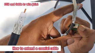 How to extend a coaxial cable …