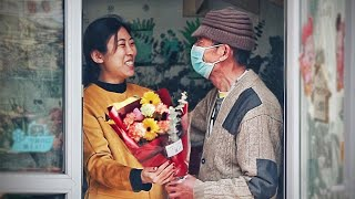 Old Man Can't Afford Flowers For Wife as Anniversary Gift   Social Experiment 当贫苦老人想买花送给老伴,店主的做法让人泪目
