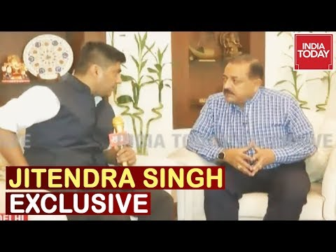Jitendra Singh Exclusive Interview On India Today On The Impact Of Article 370 In Kashmir
