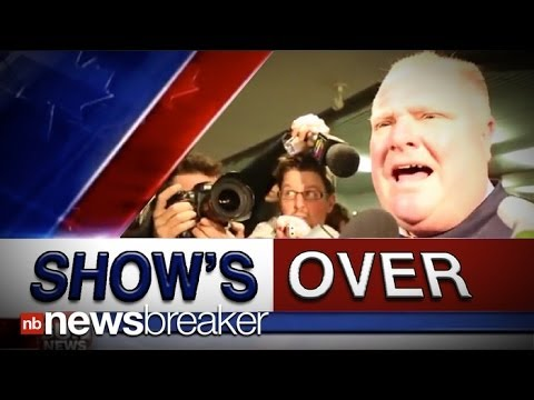 'S OVER: Sun TV Cancels Toronto Mayor Rob Ford  After One Episode