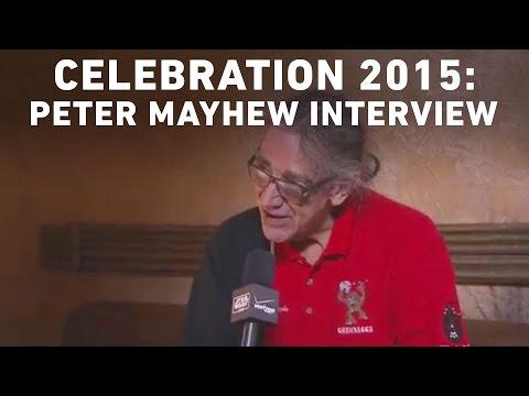 Peter Mayhew  with StarWars.com  Star Wars Celebration Anaheim