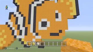Nemo Minecraft Pixel Art