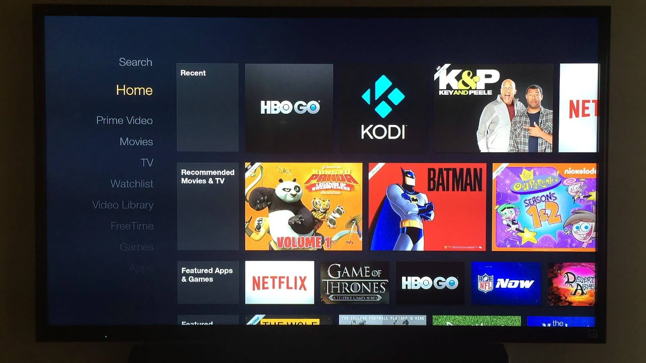 Amazon Fire TV Demo with XBMC/KODI and HBO Go   #C59106 1920 1080