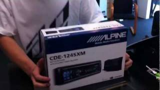 ALPINE ELECTRONICS CDE-124SXM Product Review Unboxing