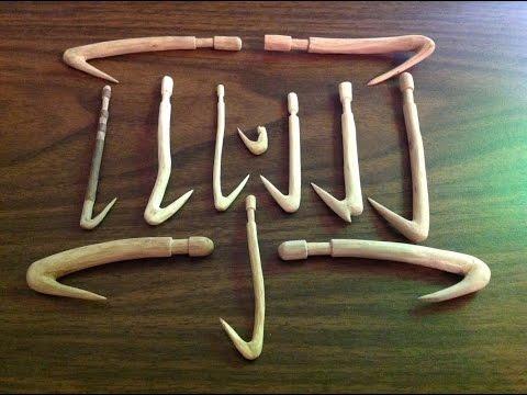 Carving Bushcraft Wooden Fishhooks