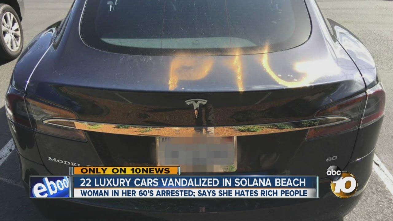 22 Luxury Cars Vandalized In Solana Beach Youtube
