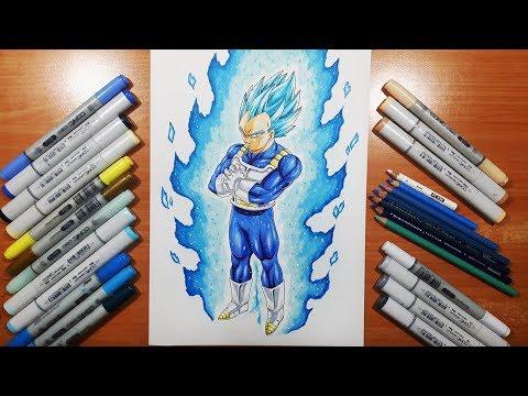 Drawing Vegeta's NEW FORM! BEYOND Super Saiyan Blue!