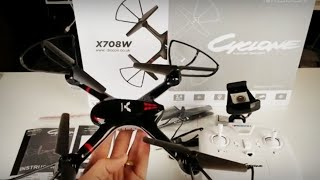 Awesome Budget RC Drone with FPV Camera - Drocon Cyclone X708W Quadcopter Review