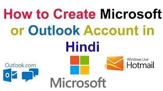 How to Create Microsoft or Outlook Account in Hindi || by technical naresh