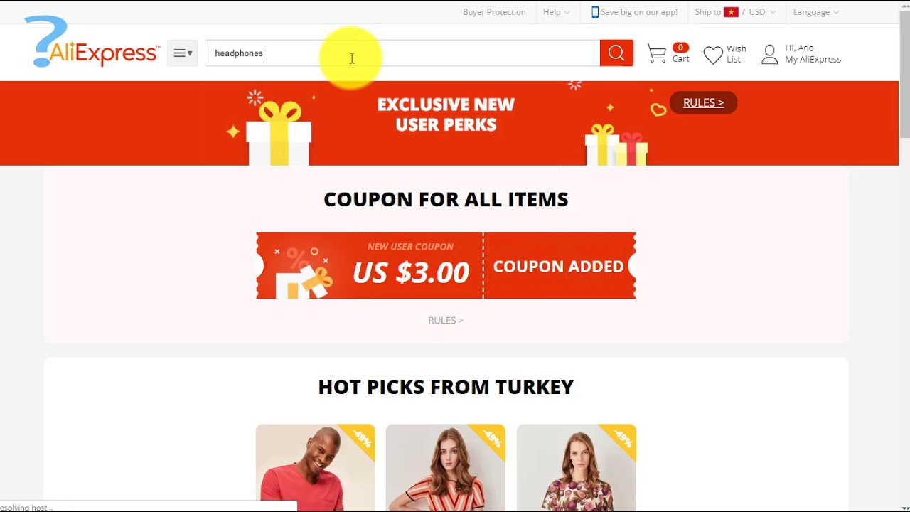 How to use Aliexpress New User Coupon