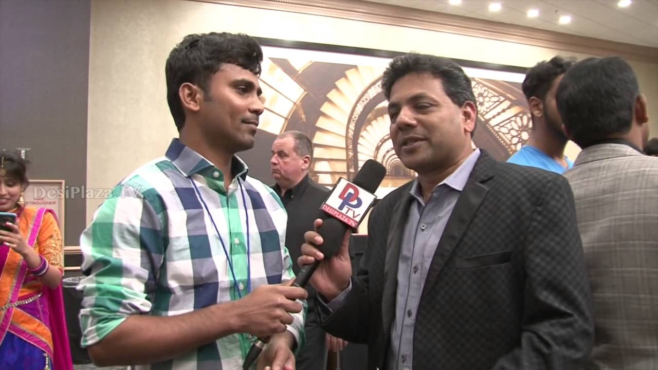 Mr.Krishnamshetty from Dallas speaking to Desiplaza TV at ATA Convention,Chicago.