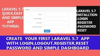 Create a Laravel 5.7 app (Registration, Login, Reset-password and simple Dashboard with in Hindi )