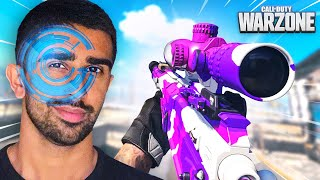 SNIPING with EYE TRACKER on WARZONE ft. Steve Aoki