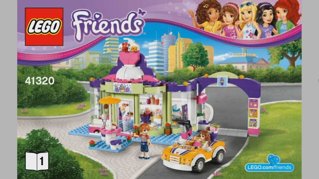Lego Friends 41320 Heartlake Frozen Yogurt Shop Instruction