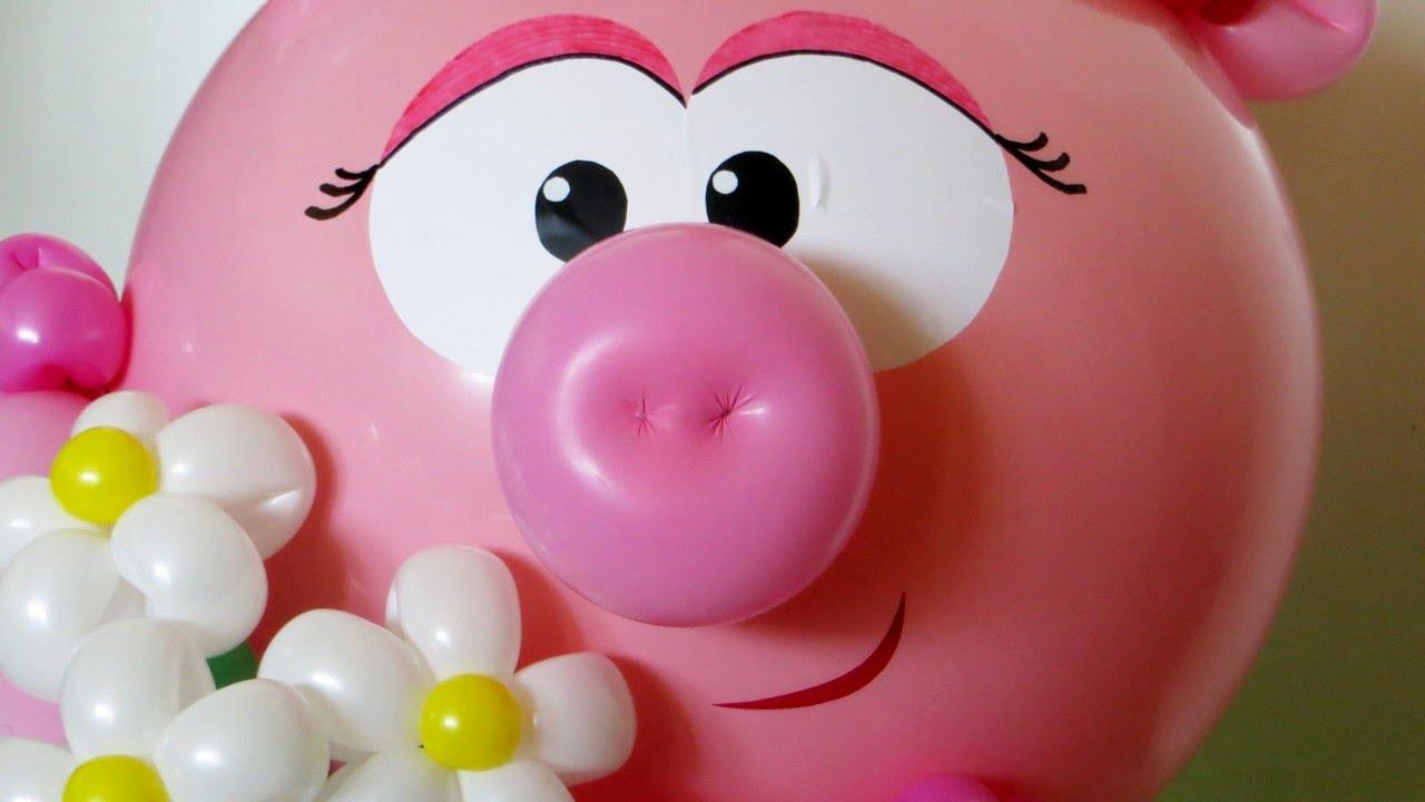 pig snout balloon youtube. Black Bedroom Furniture Sets. Home Design Ideas