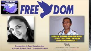 David Appadoo (UPR) sur Radio Freedom - Déclaration lors de la conférence de presse du 16-09-2015