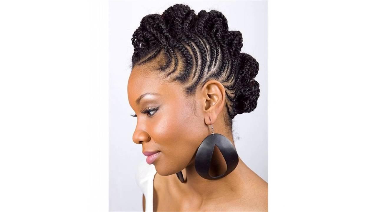 Youtube Hair Style: Black Hair Mohawk Braid Styles