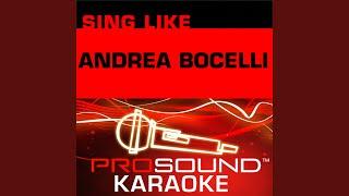 Il Mare Calmo Della Sera (Karaoke Instrumental Track) (In the Style of Andrea Bocelli)