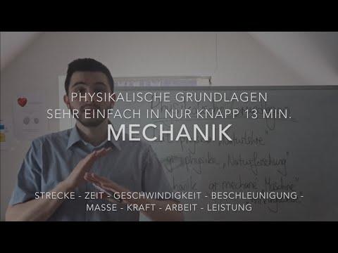 Physikalische Grundlagen einfach in knapp 13 Min. (Mechanik) Teil 1