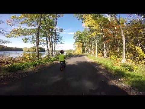 Route Video- East Coast Greenway Lisbon, Maine Go Pro