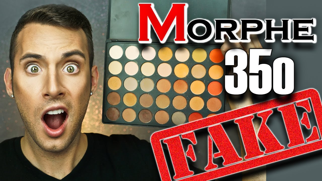 FAKE  v s  REAL Morphe 35o Palette | Swatches + Eye Look | PopLuxe