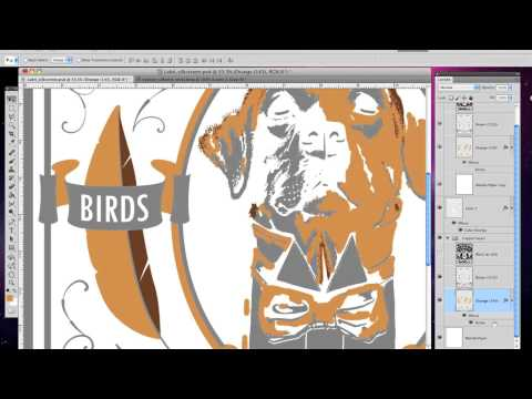 Trapping Poster Art for Screen Printing in PhotoShop by Rural Rooster