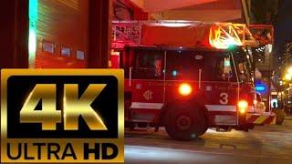 4k Chicago Fire Department Truck 3 Responding