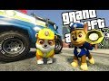 PAW PATROL MOD w/ RUBBLE &; CHASE (GTA 5 PC Mods Gameplay)
