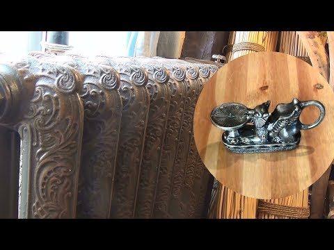 Старение чугунных радиаторов, кованых и металлических предметов декора