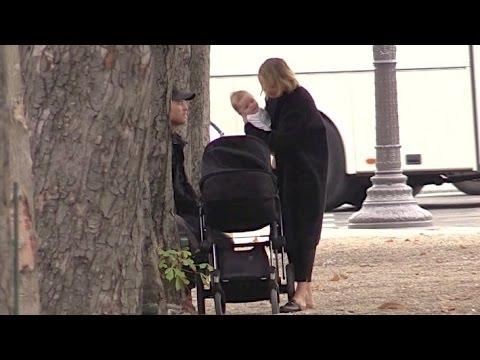 EXCLUSIVE: Sam Worthington, Lara Bingle and new baby so happy in Paris
