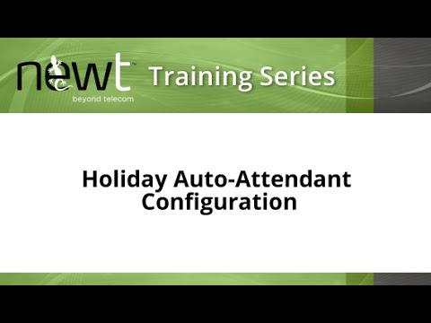 NEWT Training Video: Holiday Auto-Attendant Configuration