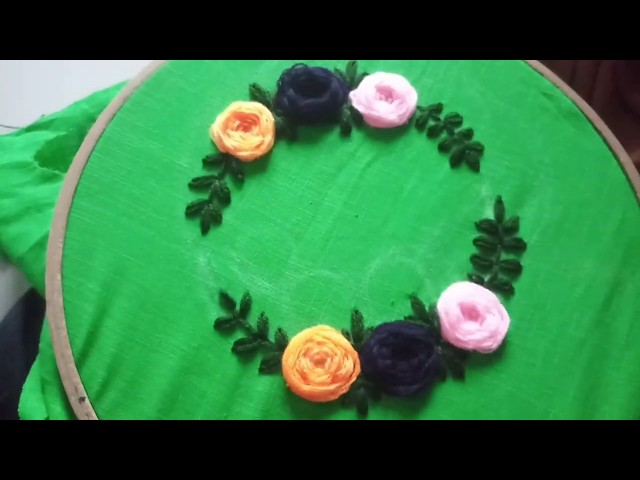 Beautiful roses stitches hand embroidery | Hand embroidery stitch flower