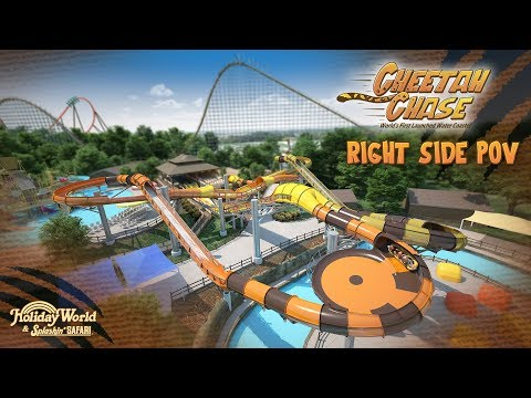 Cheetah Chase Right Side POV | Holiday World & Splashin' Safari