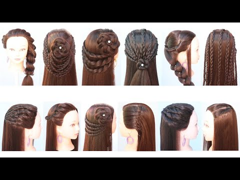 12-cute-&-easy-everyday-hairstyle-for-girls-|-open-hair-hairstyle-|-side-hairstyle-|-braid-hairstyle