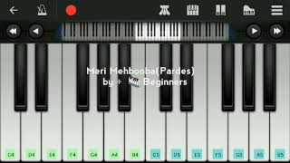 Meri Mehbooba (Pardes) :- Perfect piano tutorials by 🎹 beginners  #piano #meri_mehbooba #pardes