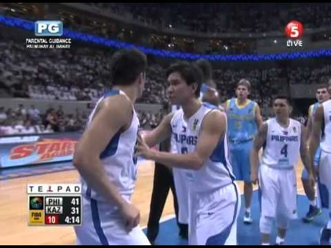 GILAS PILIPINAS VS KAZAKHSTAN 2ND QUARTER HIGHLIGHTS