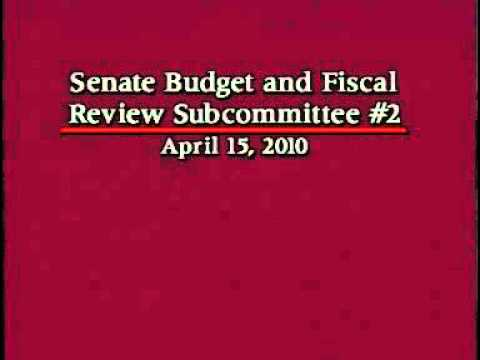 Senate Budget and Fiscal Review Sub-Committee 2 on Transportation Part 1 4/15/2010