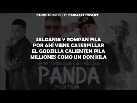 PANDA REMIX LETRA   ALMIGHTY FT FARRUKO DADDY YANKEE  COSCULLUELA