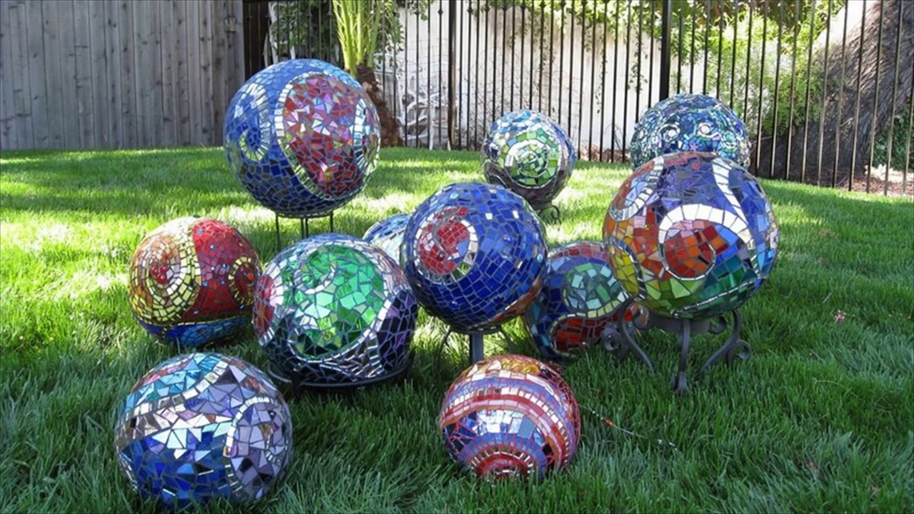 Creative Garden Balls - YouTube