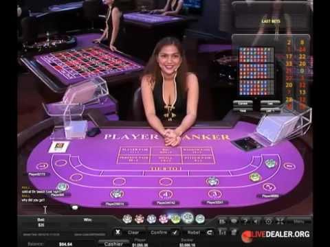 Live baccarat with dealer Raven