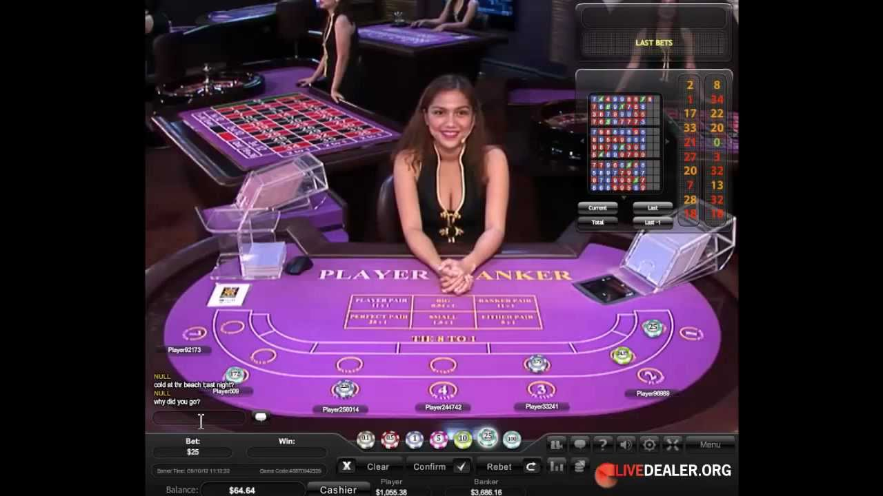Live Baccarat With Dealer Raven Youtube
