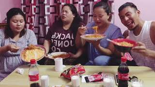 2x spicy Ramen challenge with girls || Tibetan vlogger || Bir||