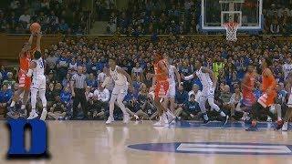 Duke's Tre Jones Steal Leads to RJ Barrett Dunk