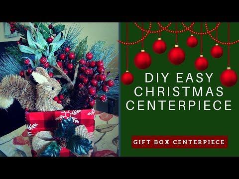DIY EASY CHRISTMAS CENTERPIECE | Gift Box Centerpiece
