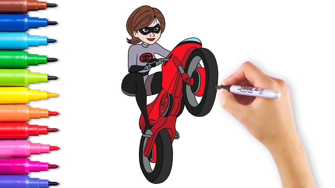 Incredibles 29 Elastigirl Coloring Pages
