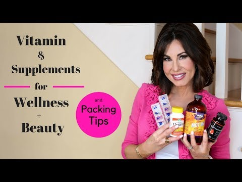 My Daily Vitamin & Supplements for Health, WELLNESS + Beauty    Packing Tips