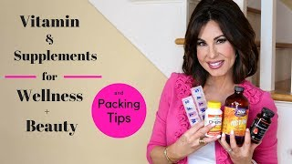 My Daily Vitamin & Supplements for Health, WELLNESS + Beauty |  Packing Tips